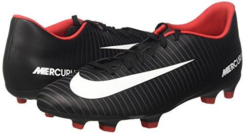 NIKE Men    s Mercurial Vortex Iii Fg Footbal Shoes   Black Dark Grey White   8 5 UK 43 EU
