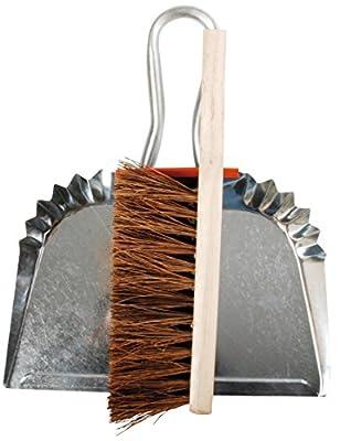 Esschert Design Kehrblech und Handfeger, Zink, metall, 30.3x8.6x36.20 cm, GT60