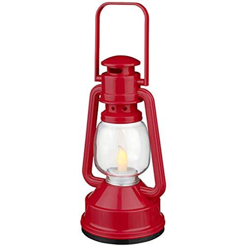 Kostüm Zwerg Schminken - LED-Laterne Zwergenlampe rot Öllampe LED Kostüm-Zubehör