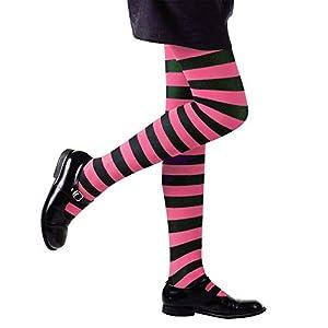 WIDMANN Pantyhose Striped - Pink/Black - 1-3yrs