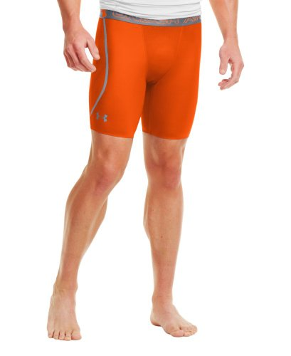 Under Armour - Pantaloni corti da uomo Heatgear Armourvent Comp Outrageous Orange
