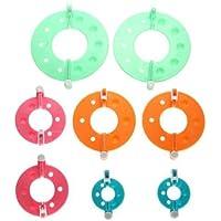 Foxnovo 8pcs 4 tailles indispensable pompon Maker peluches boule Weaver DIY Needle Craft Tool Kit (couleur aléatoire)