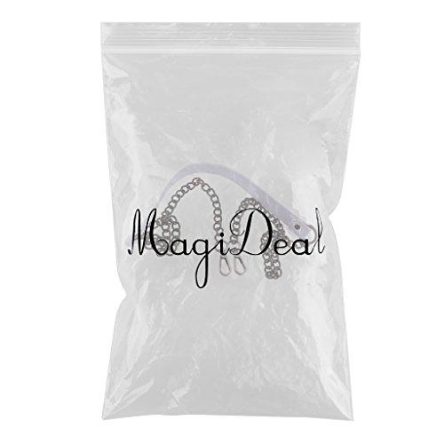 MagiDeal Cinghia Cinturino di Metallo per Borsa di Spalla Valigeria Sacchetto Ricambio Accessori Pelle - Bronzo Bronzo