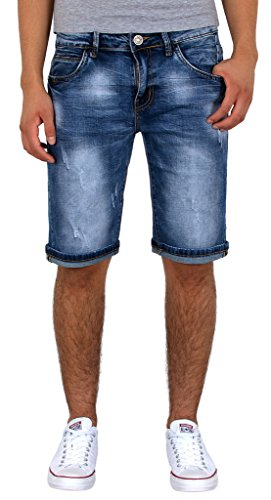 by-tex Herren Jeans Shorts kurze Bermuda Shorts Used Look kurze Hose Basic Jeans Shorts AS430