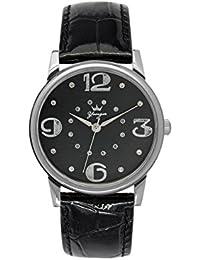 Yonger pour elle DCC 1608/01 - Reloj , correa de cuero color negro