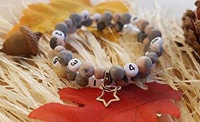 Bracelet d'allaitement en perles semi précieuse de jaspe