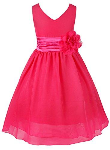 Tiaobug Kinder Mädchen Kleid Festlich Blumen-mädchen Chiffon Kleid Prinzessin Party Kleid Hochzeit...