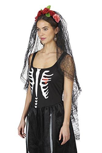 Los-Muertos-Schleier | Einheitsgröße (Kostüm Witwe Halloween Schwarze)