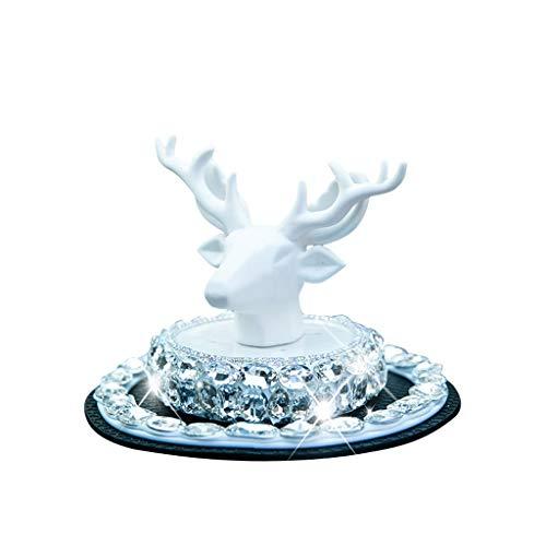 Cxp Boutiques Carrozzeria Tipo Luce duratura Fragranza in aggiunta all'odore Car Interior High-End Decorations Deer Safe Car Ornaments (Color : White)