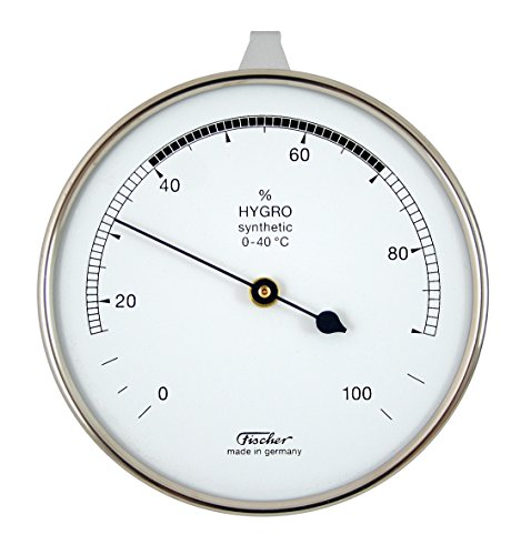 Hygrometer synthetic von Fischer, 87mm - Life-Design, Artikel 123CR, Made in Germany
