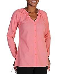 ExOfficio Bugsaway Kutula Tunic Camisa Anti-Insectos, Mujer, Naranja (Nectar), M