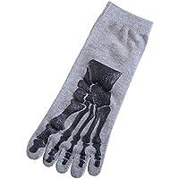 Running CheetahUnisex 3D impresión Horror Esqueleto Calcetines Calcetines Cinco Dedos Gary Talla única