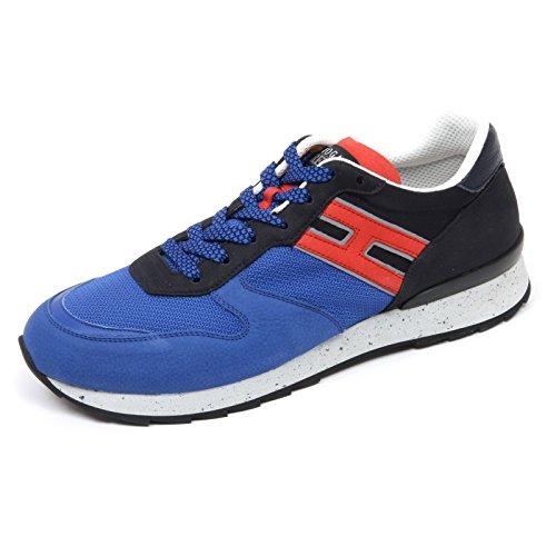 C7488 sneaker uomo HOGAN REBEL R261 scarpa blu scuro blu shoe man  6  37b87b4b0bb