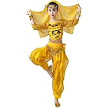 Amazon.es  Ropa Para Danza Arabe - Amarillo 1fe8edd6be5a