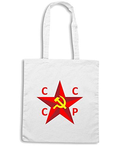 T-Shirtshock - Borsa Shopping T0874 stella rossa cccp comunismo politica Bianco