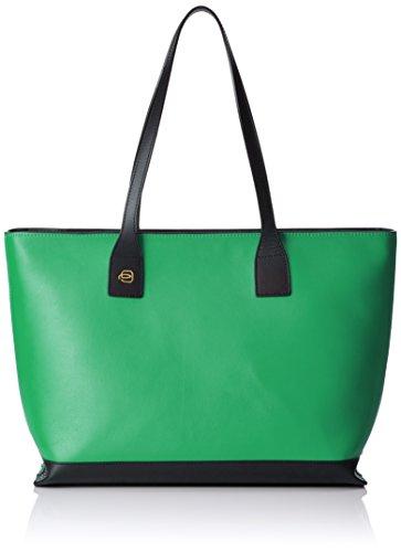 Piquadro Shopping Bag Collezione Antilias Borsa a spalla, Pelle, Verde, 36 cm