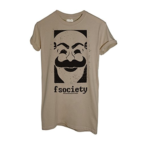 T-Shirt FSOCIETY MR ROBOT - FILM by Mush Dress Your Style Sand