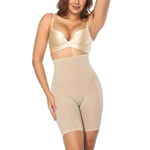 Sweetlover Thigh Slimmer Women Hi-Waist Underwear Double Layer Fabric Butt Lifter Shapewear Trainer Tummy Control Shaper Panties