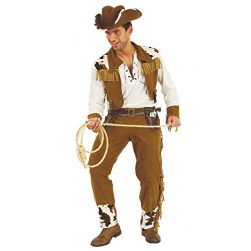 Krause & Sohn Herren Kostüm Cowboy komplett Hose Shirt Weste Hut Karneval Fasching (XL) (John Wayne Cowboy Kostüm)