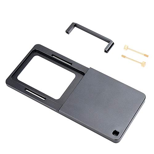Haihuic Montageplatte Adapter für GoPro Hero 7 6 5 4 3 Serie, YI Montageplatte wechseln für DJI Osmo Mobile 2 Handheld Gimbal Zhiyun Smooth 4 Feiyu Vimble 2 -