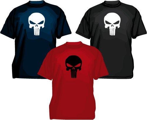 The Punisher Skull T-shirt, fumetti, Tee, nero