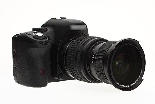 OTING Fisheye Objektiv Fischaugenobjektiv 67mm-58mm-52mm 0.35X Super-Fischauge Weitwinkelobjektiv Aufsatz mit Makro für Canon Nikon DSLR Kamera mit Reinigungstuch