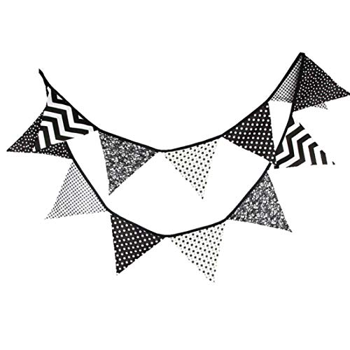Cotton Checkered Flag Banner-Party Bunting Pennant String Flag Hangin Dekoration Geburtstags-Party Supplies