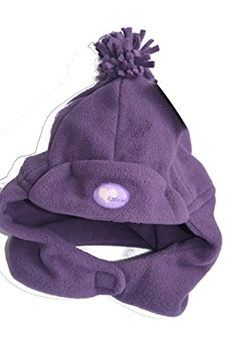 Ergee Wintermütze Mütze Hut Kopfbedeckung zum Schutz vor Wind und Wetter Purple Size 1 Gr. 38-41 aus Micro Fleece mit Aufnäher Sweet Little me Mütze mit Bommel.