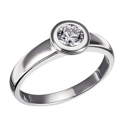 Goldmaid Damen-Ring Eternity 925 Sterlingsilber 1 klarer Zirkonia Gr. 60 Zi R4214S60 Schmuck