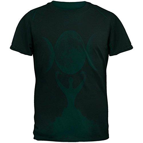 Wicca Mond Göttin Mutter Erde Symbol Herren T Shirt Green