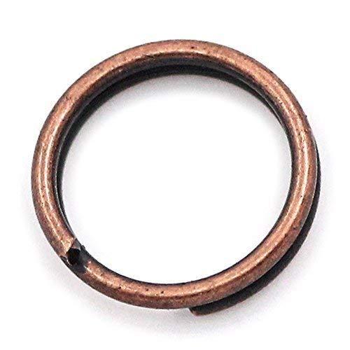 Bacabella 20750 Lot de 100 anneaux brisés 5 mm - Cuivre