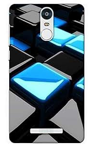 iessential rubik cube Designer Printed Back Case Cover for Xiaomi Redmi Note 3