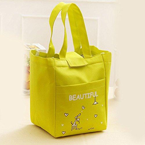 KOROWA Sacchetto di isolamento termico isolata con borsa da pranzo verde