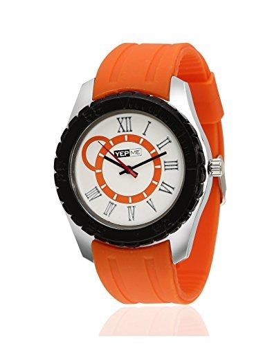 Yepme Rumata Men's Watch - White/Orange -- YPMWATCH0444 image