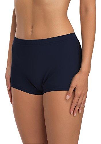 Merry Style Damen Badeshorts Bikinihose Modell L23L1 (Dunkelblau (6219), 46)