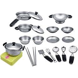 Edealing 18X Play House Stir Servir Utensilio para cocinar herramienta de la cocina Pretend Juguete Nuevo
