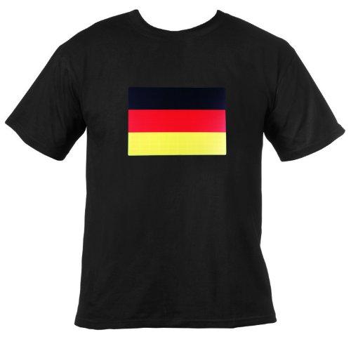 Ultrasport LED Leucht T-Shirt Motiv Germany, schwarz, L, 380100000146 Preisvergleich