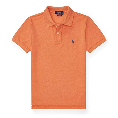 Polo Ralph Lauren Herren Poloshirts Poloshirt, Einfarbig, Poloshirts, Orange X-Small