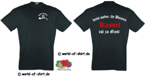 world-of-shirt Herren T-Shirt Kassel Ultras kniet nieder