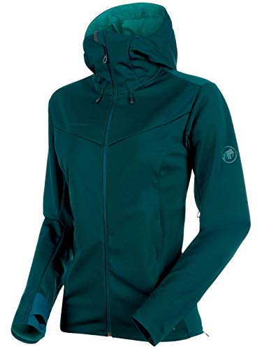 Mammut Damen V Softshell-Jacke Ultimate V mit Kapuze, Teal-Atoll Melange, S Preisvergleich