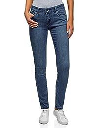oodji Ultra Donna Jeans Skinny a Vita Bassa