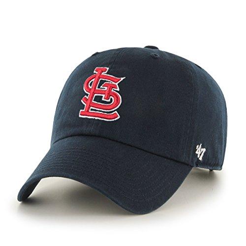 47 Brand MLB St. Louis Cardinals Herren Clean Up Cap, Navy (St Louis Cardinals Gear)