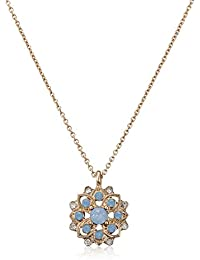Accessorize Day Collection Pendant Necklace for Women (Blue) (MN-48243440001)