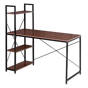 WOLTU TSB01sdc Schreibtisch Computertisch Büromöbel PC Tisch Bürotisch Arbeitstisch aus Holz und Stahl, mit Ablage, ca. 120x64x120 cm