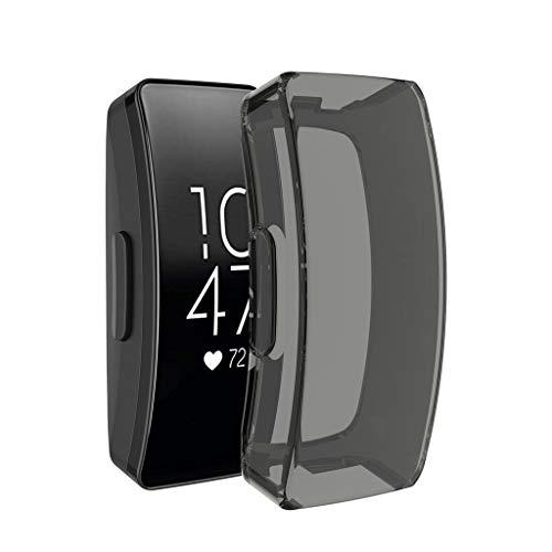 Bearbelly Schutzfolie Kompatibel mit Fitbit Inspire/InspireHR/Ace2,vollständige Abdeckung weicher TPU Silikon Tasche Schirm-Schutz-Schutzhülle