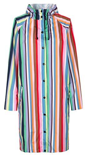 en Regenmantel Regenjacke Magpie Bunt Gestreift Regenbogen Farben Wasserdicht Polyester Mix Größe M - 1901433006-018 ()