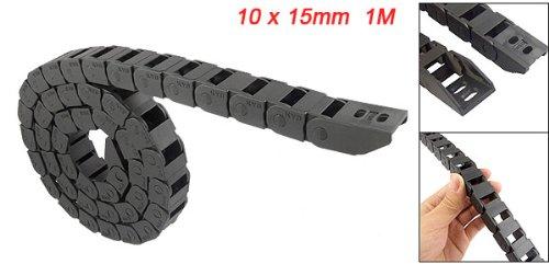1m de long en plastique noir corde câble chaîne Drag 10x 15mm