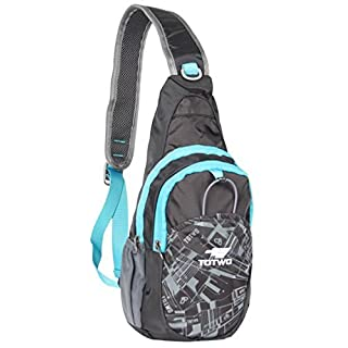 YHLCSQ Sling Bag Chest Shoulder Unbalance Gym Fanny Backpack Multipurpose Casual Daypack Hiking Shoulder Bag for Men&Women kid Boys Girls (Black)
