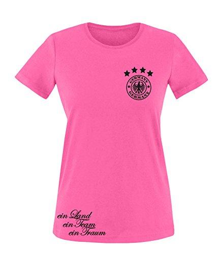 Luckja EM 2016 Trikot Deutschland Fanshirt Motiv 15 Damen Rundhals T-Shirt