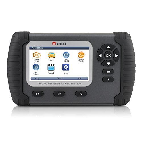 Volles Systemdiagnosewerkzeug VIDENT ILink700 4.3 LCD Berufscodeleser für Öl Rückstellung EPB ABS SAS Airbag Rückstellungs Regeneration Batterie Konfiguration OBDII 12V Autos (Truck-box Licht)